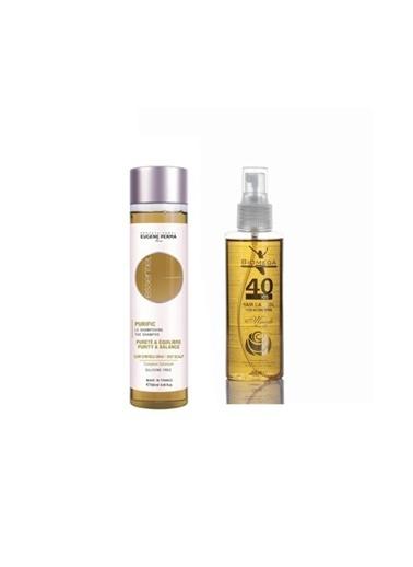 Eugene Perma Eugene Perma Essentiel Purific Şampuan 250 Ml+Biomega 40 Bitkili Doğal Saç Bakım Yağı 150 Ml Renksiz